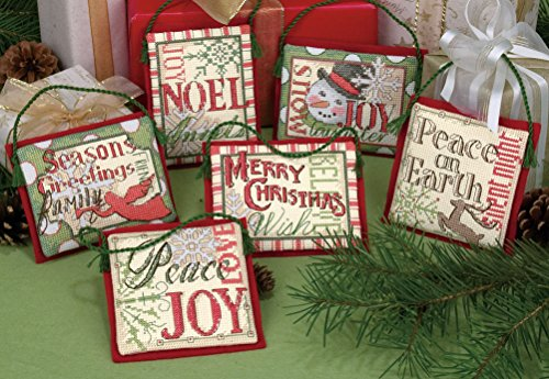 Dimensions Christmas Sayings Ornaments Counted Cross Stitch