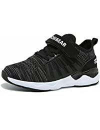 Kids Breathable Knit Sneakers Lightweight Mesh Athletic...