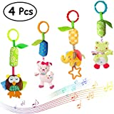 Merveilleux Baby Rattle Toys Infant Soft Hanging Toy 4pcs Newborn Stroller Car Seat Crib Plush Animal dolls