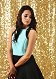 B-COOL Gold Sequin Backdrop 7ft X 7ft Wedding Photo Booth Photography Sequin Sparkly Curtain Backdrop Curtains Studio Background Sparkly Sequin Photography Backdrop Video Studio Background