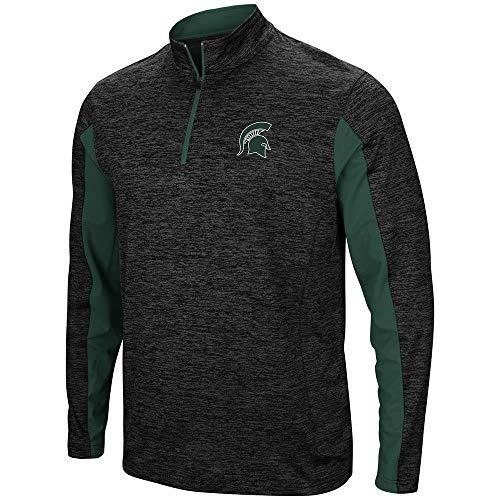 Colosseum Mens Michigan State Spartans Slide Quarter Zip Windbreaker Shirt - L