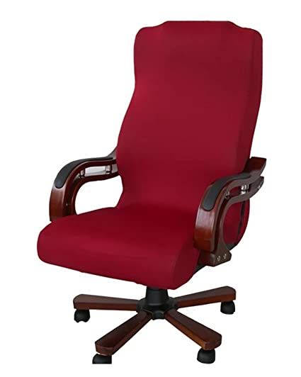 Champagne U-HOME Universal Stretch Office Chair Cover for Computer Chair//Desk Chair//Boss Chair//Rotating Chair Removable Washable Seat Protector