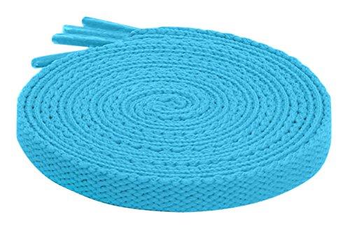 Light Blue Tennis Shoes - Fashion Flat Shoelaces Canvas Sneaker Athletic Tennis Shoe Laces Unisex Strings by Santimon 2 Pair Light Blue 47