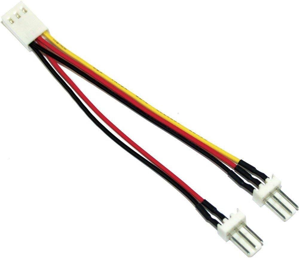 Inline Lüfter Y Kabel 3 Pin Molex Buchse An 2x 3 Pin Computer Zubehör