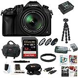 Panasonic Lumix DMC-FZ1000 4K QFHD/HD 16X Long Zoom Digital Camera (Black) wi.