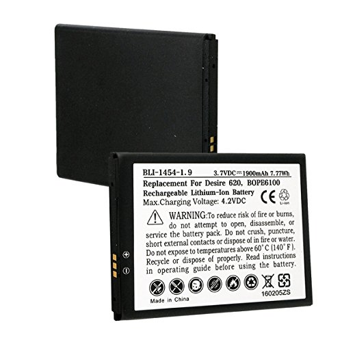 HTC Desire 620G Cell Phone Battery (Li-Ion 3.7V 1900mAh) - Replacement for HTC BOPE6100 Cellphone Battery