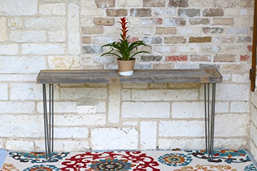 Industrial 60 Inch Natural Console Table by Doug and Cristy Designs