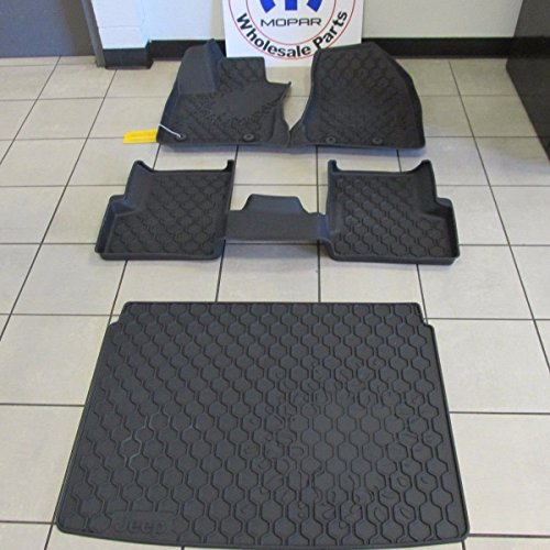 Jeep Renegade Front Rear And Cargo Jeep Logo Slush Mats NEW OEM MOPAR