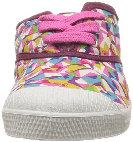 Bensimon Tennis Liberty - Zapatillas de Deporte de tela Infantil Rosa - Rose (Kaleidoscope 6090)