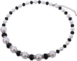 Women Fashion Pearl Choker Necklace