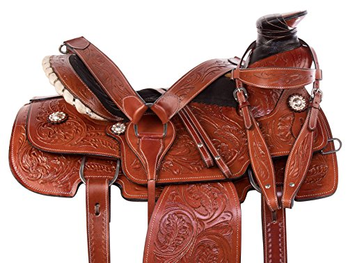 - AceRugs Wade Tree Western Roping Saddle Heavy Duty Thick Cowhide Leather Comfy SEAT Perfect Ranch Work Saddle TACK Set (14)