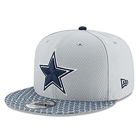 466a04a44 Amazon.com : New Era Dallas Cowboys Sideline 9Fifty Cap Grey ...