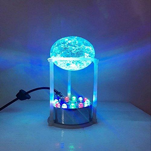 Eleoption Ultrasonic Humidifier With 12 LED Color Changing Mist Maker Fogger Water Mist Fountain Ultrasonic Mist Generator Vaporizer
