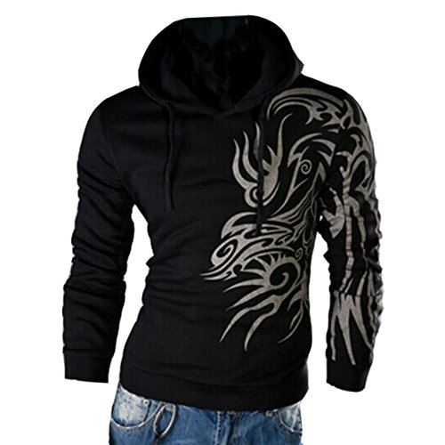 Cool Dragon (Hzcx Fashion Men's Dragon Printed Long Sleeve Pullovers Juniors Hoodies SJXZ1809-W03-25-B-US L TAG 2XL)