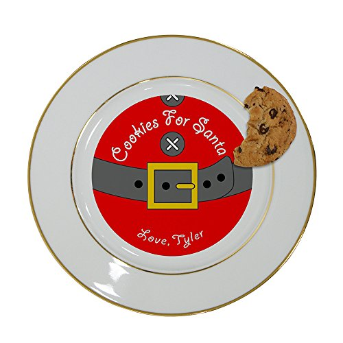 GiftsForYouNow Personalized Cookies for Santa Plate