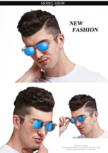 lunettes UV400 soleil Duco Revo TR90 rétro Bleu 2142 de Wayfarer de classique lunettes soleil Polarized p8qPrw8x