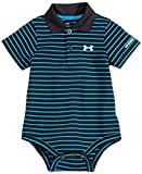 Under Armour Baby-Boys Newborn Polo Yarn Dye. Bodysuit, Black, 0-3 Months