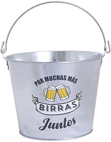 Dream Hogar cubitera Cervezas Cubo Metal por Muchas mas birras Juntos 5L 23,5x18 cm