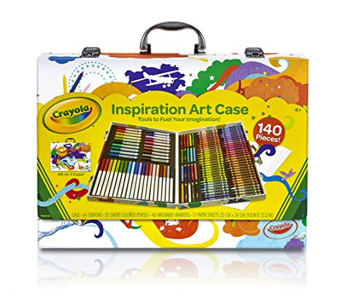 Crayola Inspiration Art Case: 140 Pieces, Art Set, Gifts for Kids, Age 4, 5, - Piece Large 6