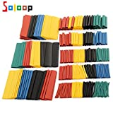 SOLOOP 328Pc Assortment 2:1 Heat Shrink Tube Tubing Sleeve Wrap Wire 1-14mm Set 8 Sizes