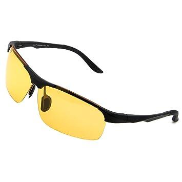 95d4d7b5503 Cyxus Night Riding Driving Glasses Polarized Goggle Gaming Eyewear(Spring  Hinge) Motorcycle Fishing Outdoor