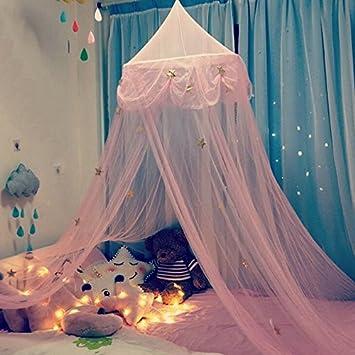 ciel de lit fille princesse rose chambre papillons moustiquaire en filet - Ciel De Lit Fille