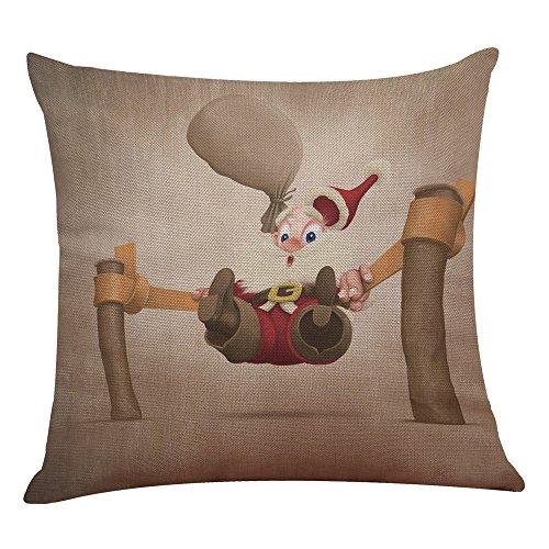 Merry Christmas Throw Pillow Cover Xmas Design Santa Claus Pillowcase Decorative Cushion Case for Sofa Home Decor 18