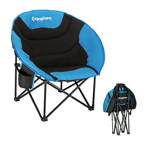KingCamp Moon Leisure Portable Stable Comfortable Folding Chair for Fishing Patio Parties Camping Beach Picnic