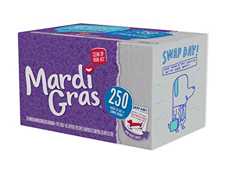 Mardi Gras Disposable Napkins, 250 Count, Printed Paper Napkins, Kid-Friendly Designs]()