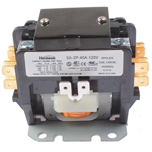 (Holdwell SA-2P-40A-120V 2 Pole 40 Amp 120V Coil Definite Purpose Contactor )