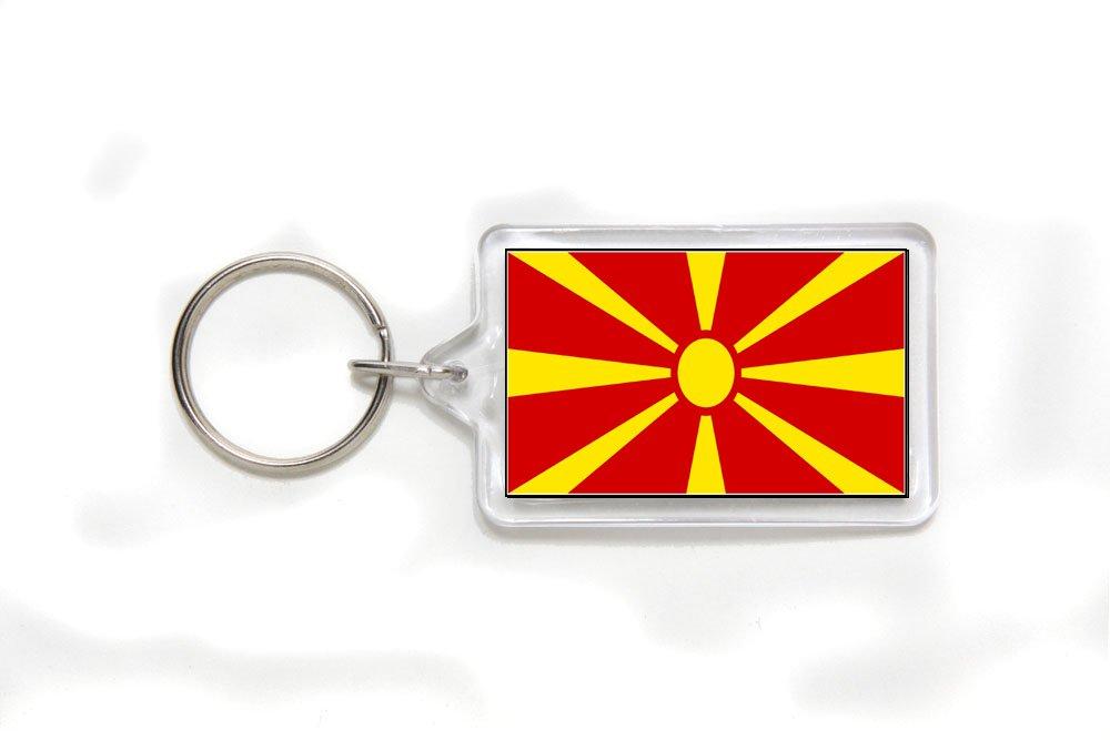 Macedonia Macedonian Flag Double Sided Acrylic Key Ring Small