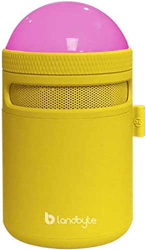 LANDBYTE LED Amp Bluetooth Wireless Speaker LB-310 Yellow All Smart Phones and Computers Compatible Mini Portable Outdoor Waterproof Shockproof