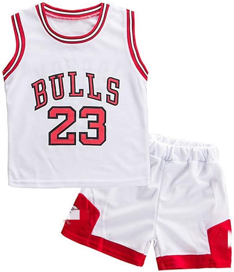 Angel ZYJ Niño Michael Jordan # 23 Chicago Bulls Retro Pantalones Cortos de Baloncesto Camisetas de Verano Uniformes y Tops de Baloncesto: Amazon.es: Deportes y aire libre