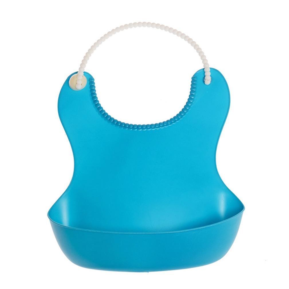 Rucan Clearance Kid Infant Baby Bibs Soft Silicone Bib Waterproof Saliva Dripping Bibs (B)