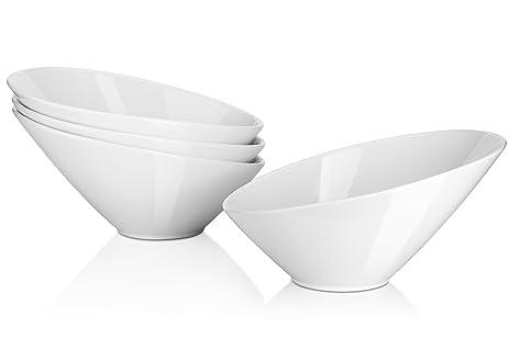 Famous Amazon.com | DOWAN Porcelain Angled Serving Bowls/Salad Bowls, 4  XR76