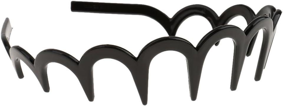 Serre-tête Peigne à Cheveux en Zigzag Bande Crantée Bandeau À La Mode