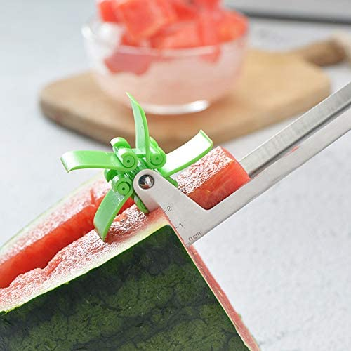 NA Rebanadora de frutasCortador de sandía Windmill 304 Cortador de Acero Inoxidable Cortador de sandía Molino de Viento Coche Corte Cortador de Molino de Viento de Molino de Viento
