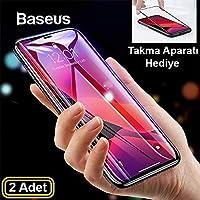 Baseus İPhone 11 Pro -X- XS 3D full Kırılmaz Cam Ekran Koruyucu 2 adet SİYAH