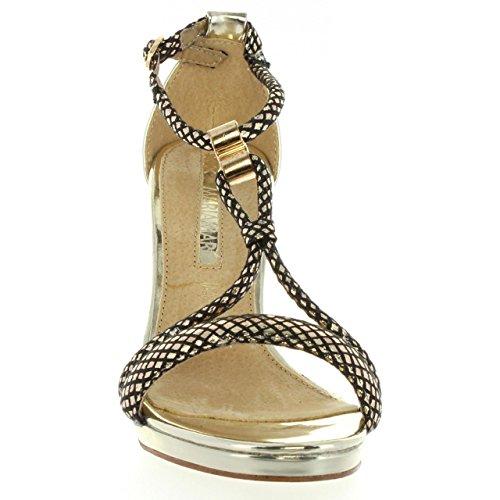Zapatos de tacón de Mujer MARIA MARE 66006 CHAMPAGNE