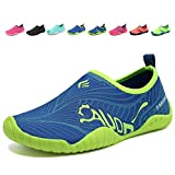 CIOR Kids Water Shoes Quick Dry Boys and Girls Slip-On Aqua Beach Sneakers (Toddler/Little Kid/Big Kid),VY03,3blue,29