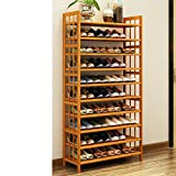 Wooden shoe rack solid wood,[multilayer],[simple],household use,large capacity,shoe rack living room storage shoes cabinet-O 80x26x150cm(31x10x59inch)