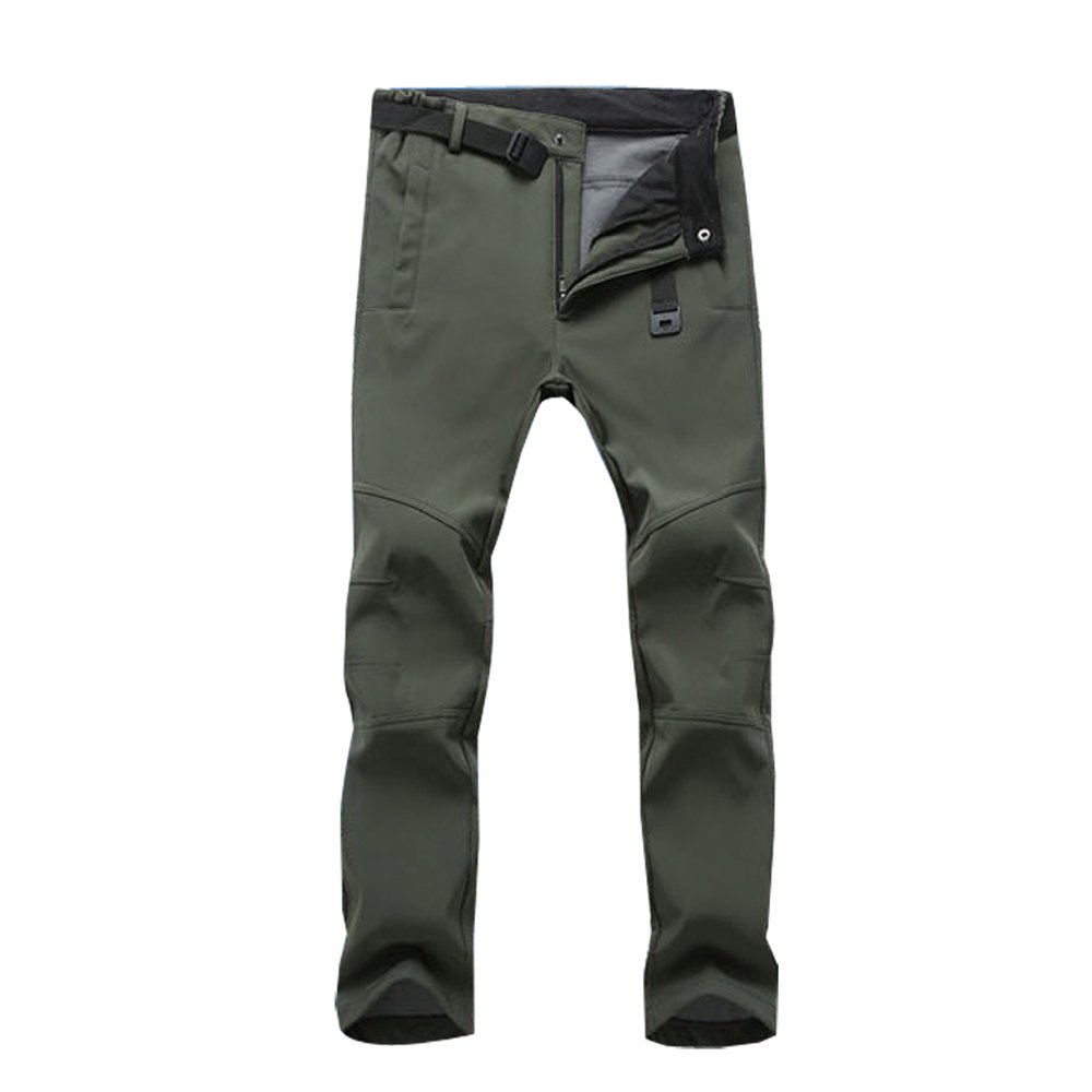 Ynport Winter Moutaineer Softshell Fleece Pants Windproof Trousers Hiking Pants