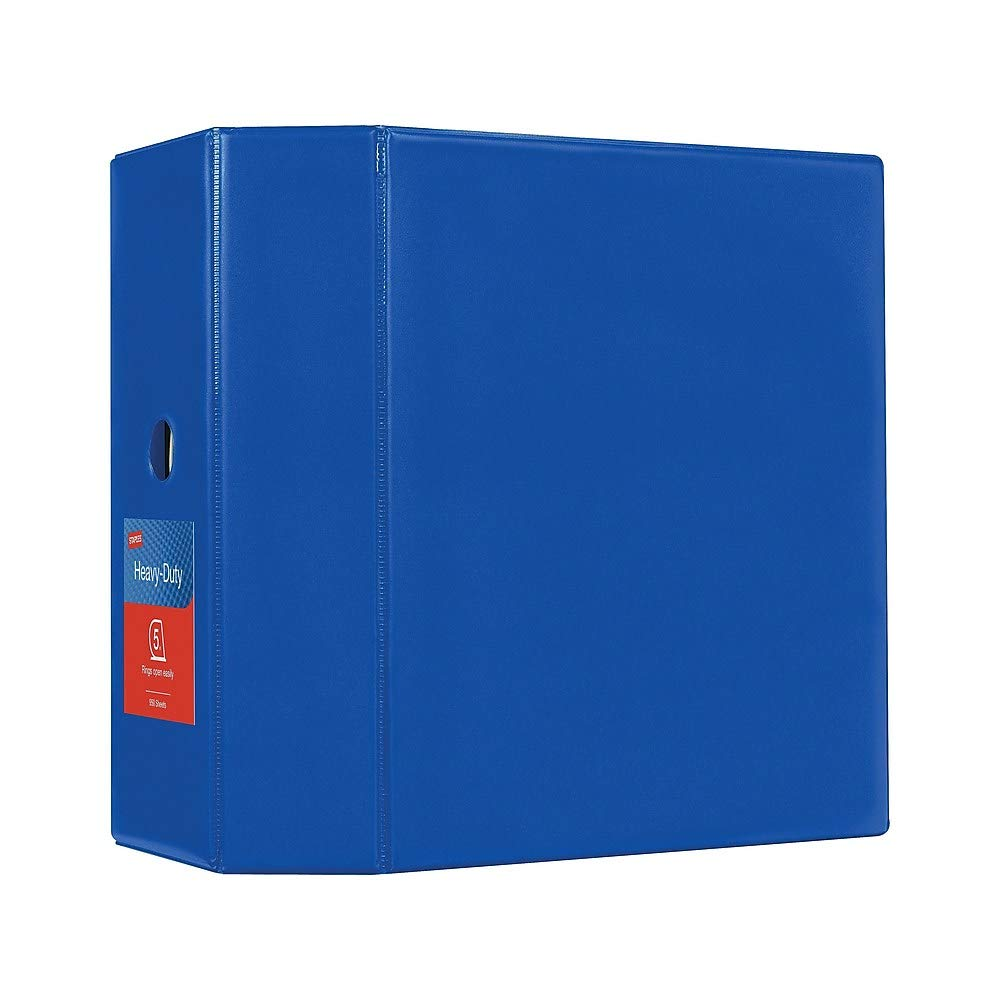 Staples 976061 5-Inch Staples Heavy-Duty Binder with D-Rings Blue by Staples