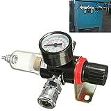 Regulator Gauge AFR-2000 1/4' Air Compressor Filter Water Separator Trap Tools Kit