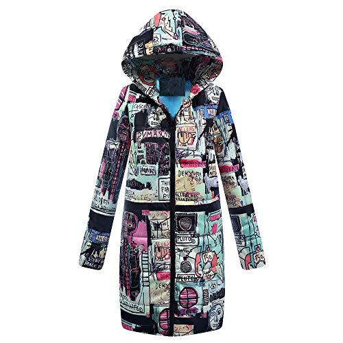 Linlink Mujeres Invierno Largo algodón señoras Parka Abrigo Encapuchado Chaqueta Acolchada Outwear