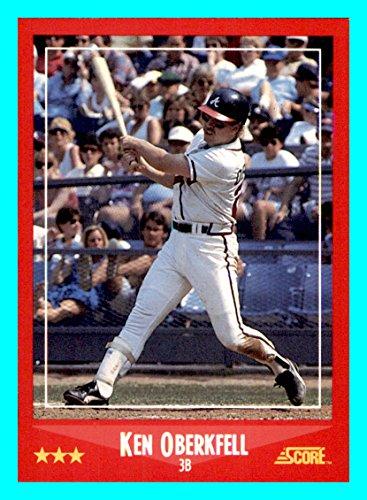 - 1988 Score #245 Ken Oberkfell ATLANTA BRAVES (Box109c)