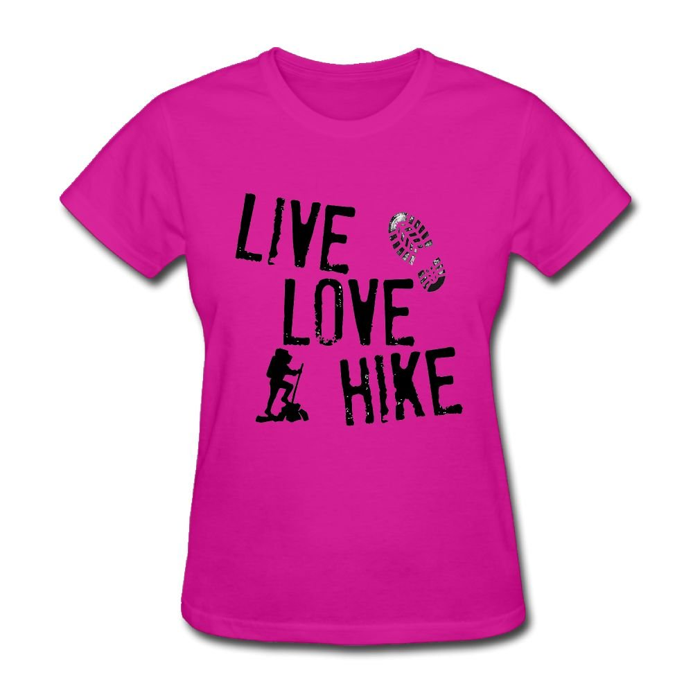 Hierod Live, Love, Hike Women's Round Neck Summer Fashion Short-Sleeved T-Shirt.
