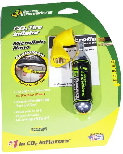 Controllable Co2 Tire Inflator - Genuine Innovations G2642 Microflate Nano Tire Inflator