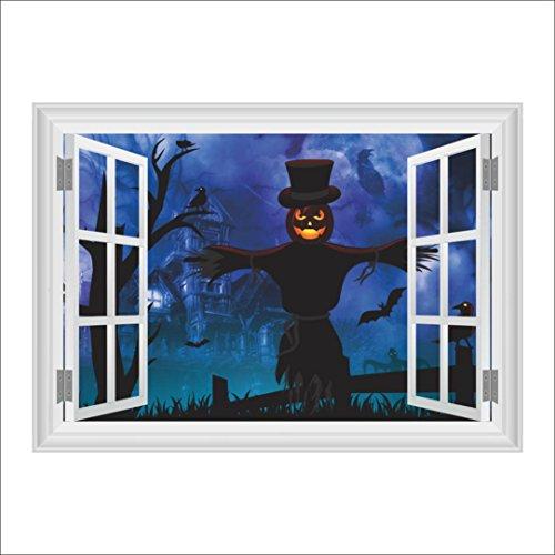 3D Halloween Wall Stickers, Forthery New Halloween Skull DIY Removable Mirror Home Wall Sticker Decoration Living Room Decor (Wallpaper Halloween Disney)