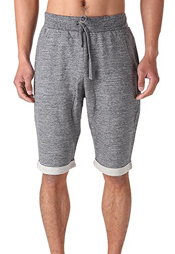 FORBIDEFENSE Casual Men's Bermuda Classic Fit Cotton Gym Shorts with Pockets,Bodybuilding Short Pants with - Mens Bermuda